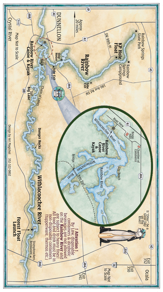 Rainbow River Map Rainbow Springs Map Withlacoochee River Map - Rivermap